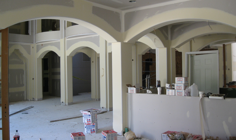 Archways finished with vinyl bead
