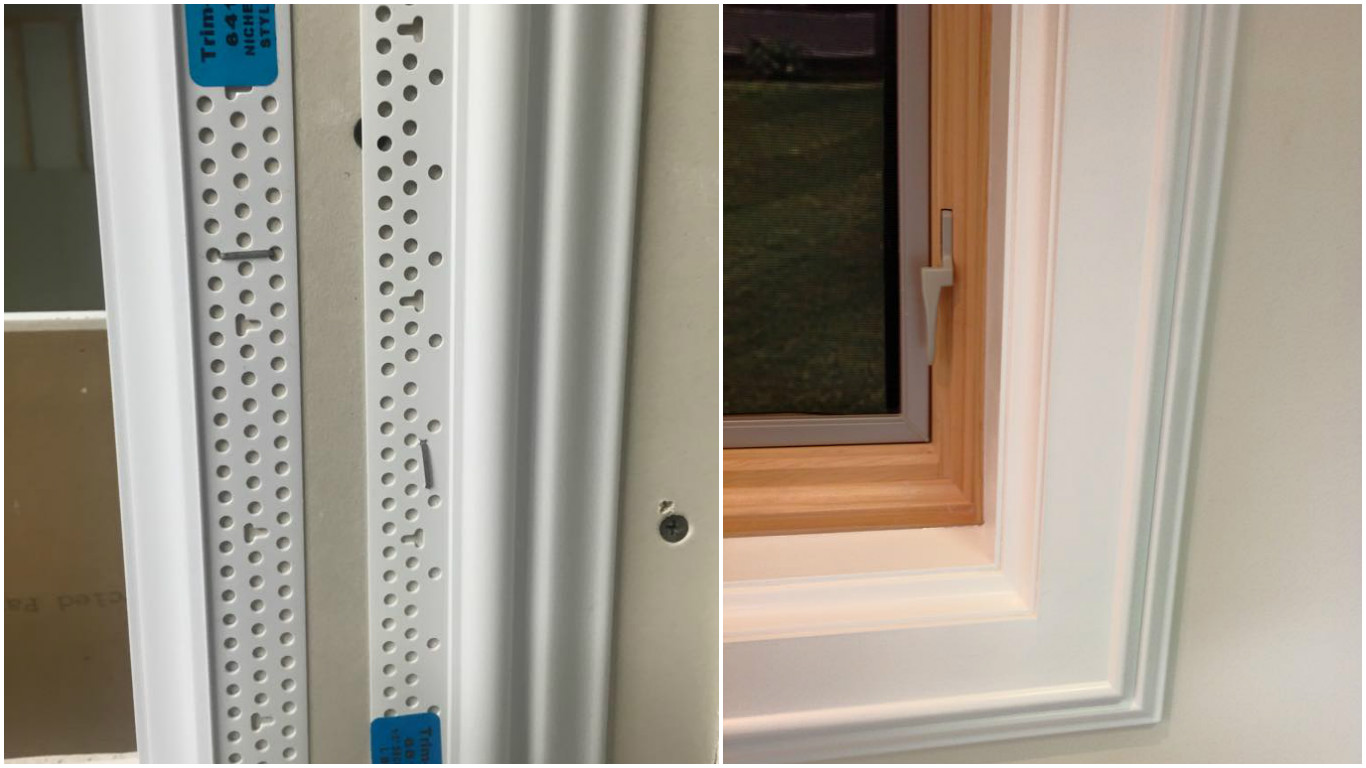 Vinyl window casing - Side By Side Jpg