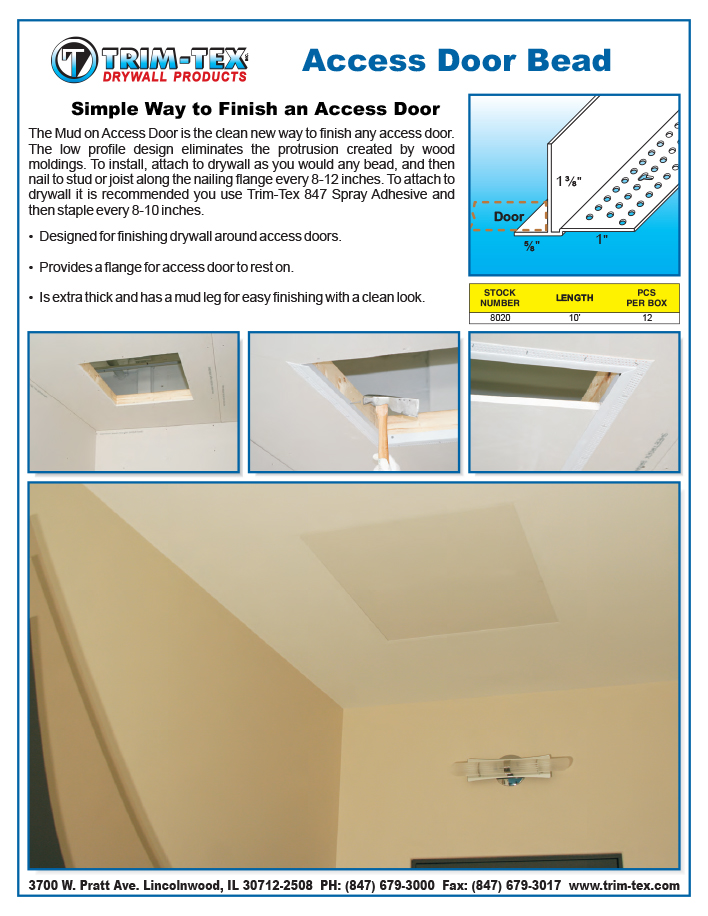 Most Recent Tips  sc 1 st  Trim-Tex & Simple Way to Finish an Access Door | Trim-Tex | Drywall Products