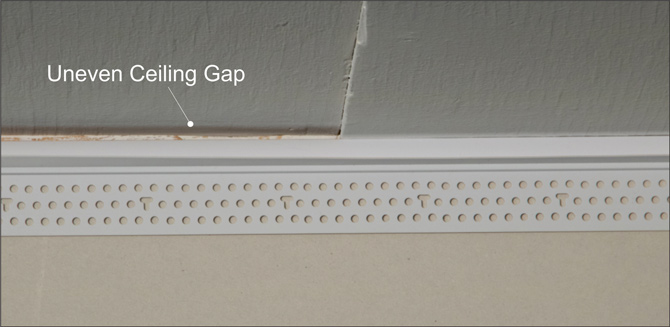 Installing Deflection Bead To Eliminate Uneven Ceilings