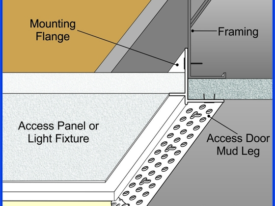Architectural Access Door Bead Trim Tex Drywall Products