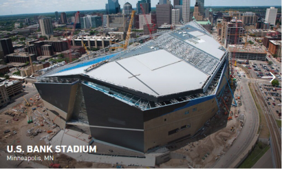 US Bank Stadium future home of the Minnesota Vikings. Photo Courtesy of Mortenson Construction