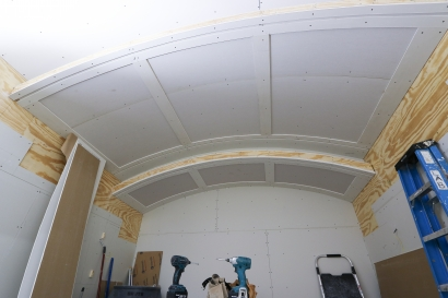 Finishing a barrel vault with a reveal detail is easy when using vinyl.