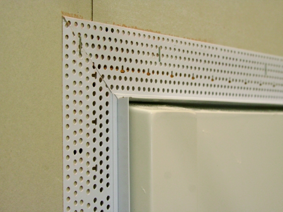 Shower Bead Trim Tex Drywall Products